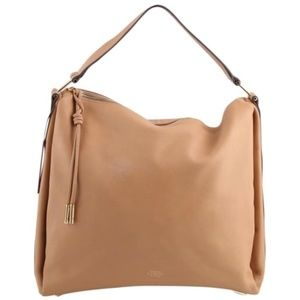 Vince Camuto Josie tan leather hobo tote bag purse